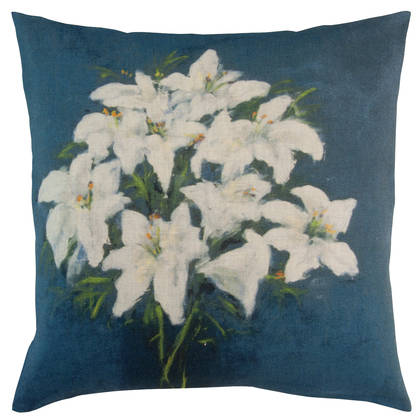Genevieve Levy Fleur Bleu Cushion 55cm (available to order)