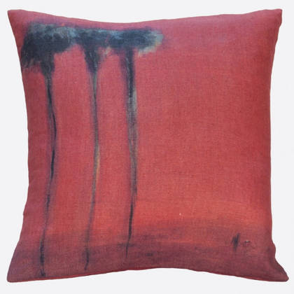 Genevieve Levy Palmiers Noirs Cushion 55cm (available to order)