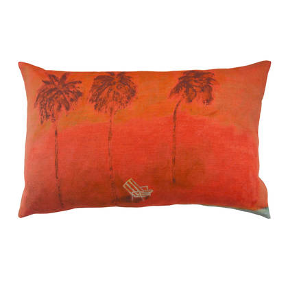 Genevieve Levy Sous les Cocotiers Cushion 50 x 30cm (available to order)