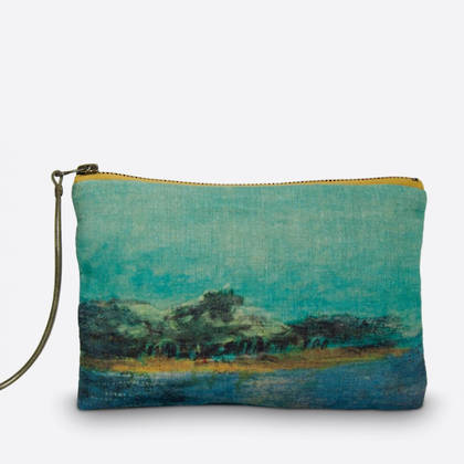 Maison Levy Linen Pouch - Emeraude (sold out)