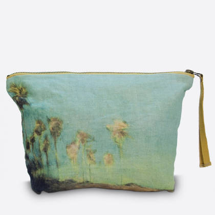 Maison Levy Linen Make up Bag - El Palmar