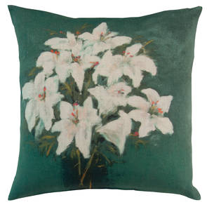 Genevieve Levy Fleurs Blues Canard Cushion 55cm (available to order)