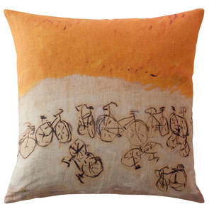 Genevieve Levy A Bicyclette Cushion 55cm