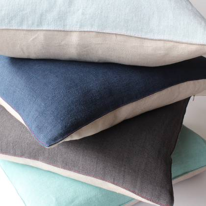 Italian Linen 50 x 30cm Cushion - available in 11 colours