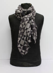 Wool & Silk Scarf - Geometric (out of stock)