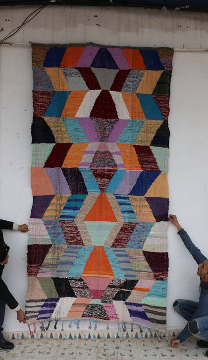 Kilim Boucherouite rug - No. 822 (152 x 290) (sorry sold)