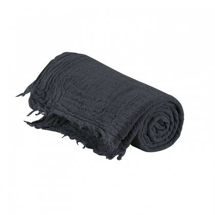 Italian Pure Merino Wool Throw - Charcoal