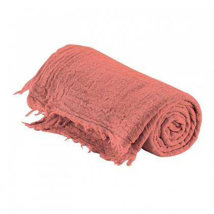 Italian Pure Merino Wool Throw - Rose