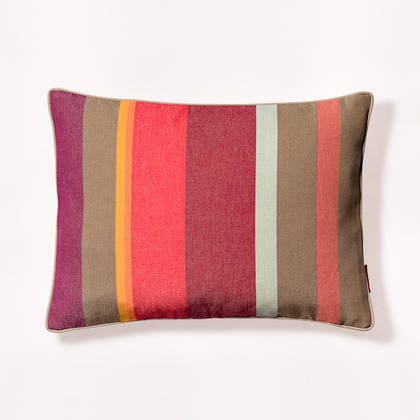 French Stripe Collioure Rouge Cushion 30x40cm