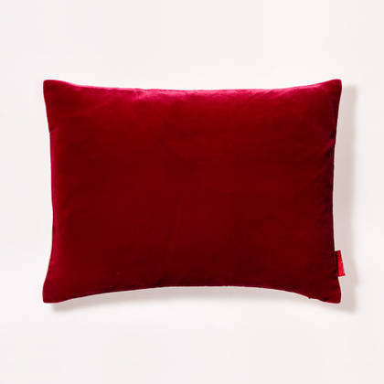 Cushion Silk Velvet Carnation 30x40cm