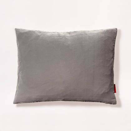 Cushion Silk Velvet Frosted Black 30x40cm