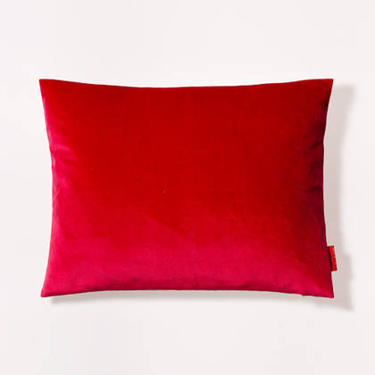 Cushion Cotton Velvet Calypso Red 30x40cm