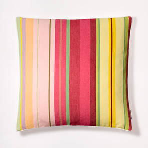 Cushion French Stripe Ceret Cerise 50cm