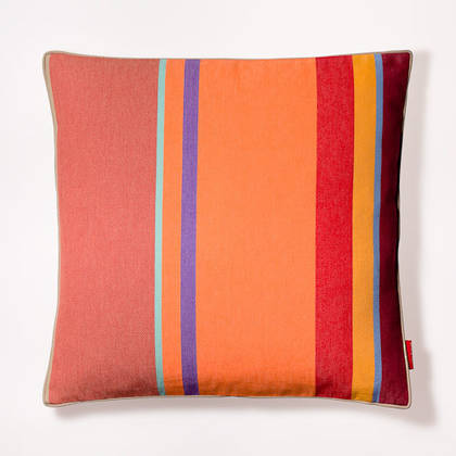 Cushion French Stripe Collioure Rouge 50cm