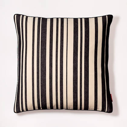 Cushion French Stripe Tom Noir 50cm