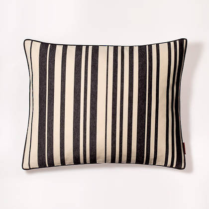 French Stripe Tom Noir Cushion 40x50cm