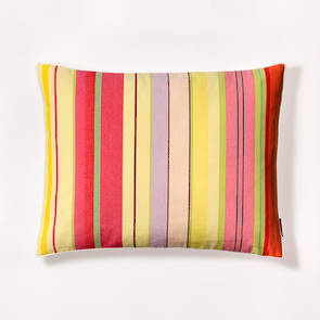 French Stripe Ceret Cerise Cushion 40x50cm
