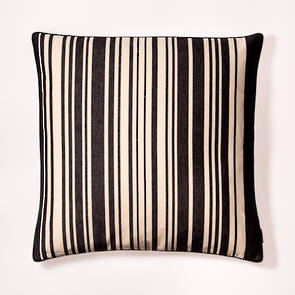 Cushion French Stripe Tom Noir 60cm