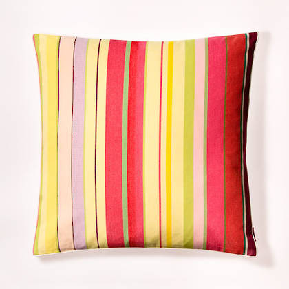 Cushion French Stripe Ceret Cerise 60cm (out of stock, available to order)