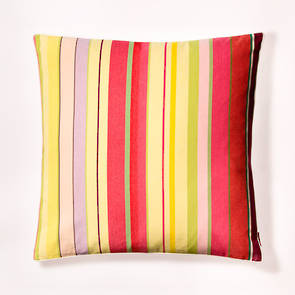 Cushion French Stripe Ceret Cerise 60cm