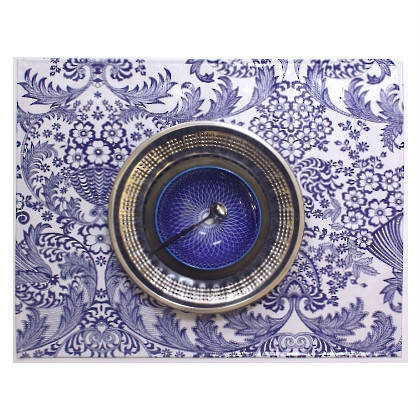 Oilcloth Placemats - set of 4 - Paraiso Blue (out of stock)
