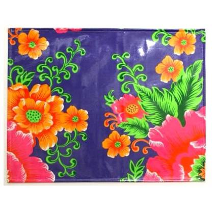 Oilcloth Placemats - set of 4 - Lotus (out of stock)