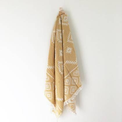 Turkish Towel Kilim - Mustard (sold out)