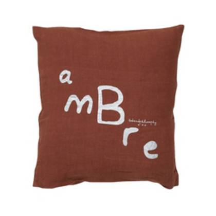 Bed & Philosophy pure linen Molly Cushion in Ambre (available to order)
