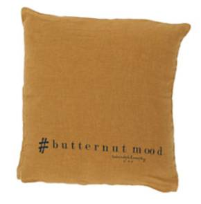 Bed & Philosophy pure linen Molly Cushion in Butternut (available to order)