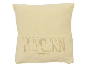 Bed & Philosophy pure linen Molly Cushion in Popcorn