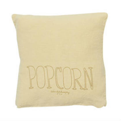 Bed & Philosophy pure linen Molly Cushion in Popcorn (available to order)