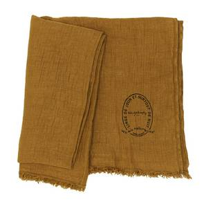 Bed & Philosophy Pure Linen Throw - Butternut (available to order)