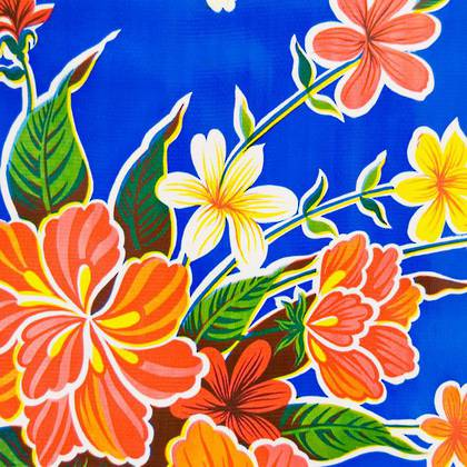 Kitsch Kitchen Oilcloth - Fortin Blue (out of stock)