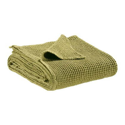 Portuguese Cotton Throw - Matcha Green