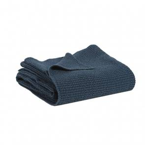 Portuguese Cotton Throw - Navy