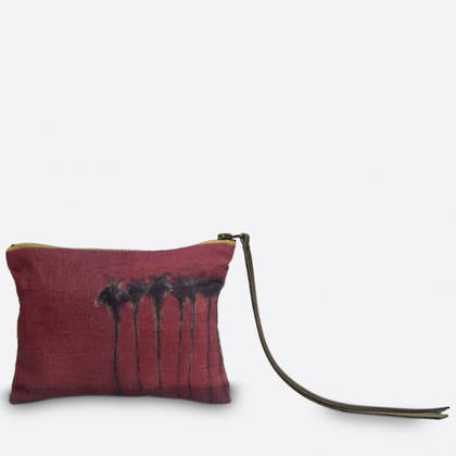 Maison Levy Linen Pouch - Palmiers Noir (sold out)