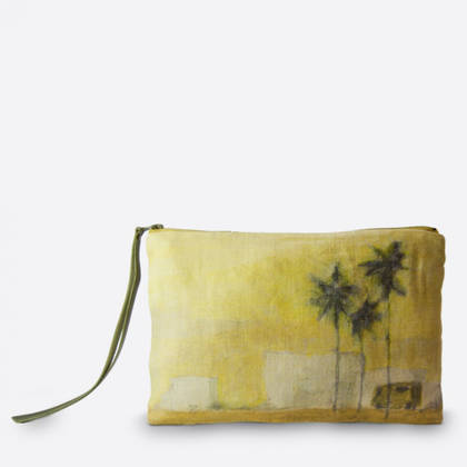 Maison Levy Linen Pouch - Camion Verde (sold out)