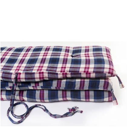 French cotton tufted mattress - Blue Check (sold out)
